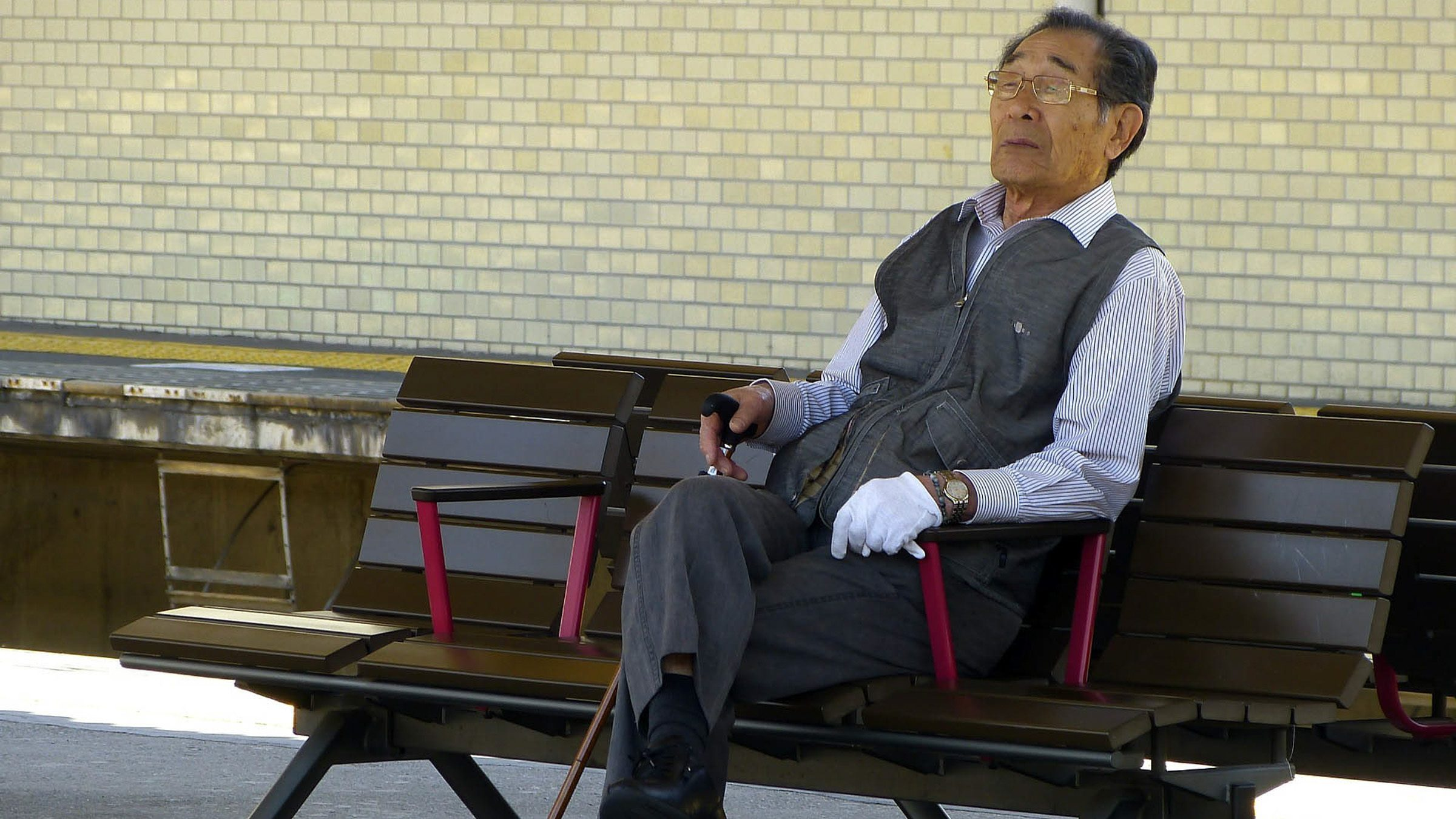 Old Man at the Station